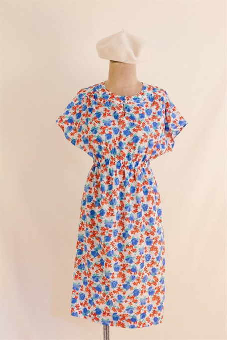 80's Floral Patterned Dress