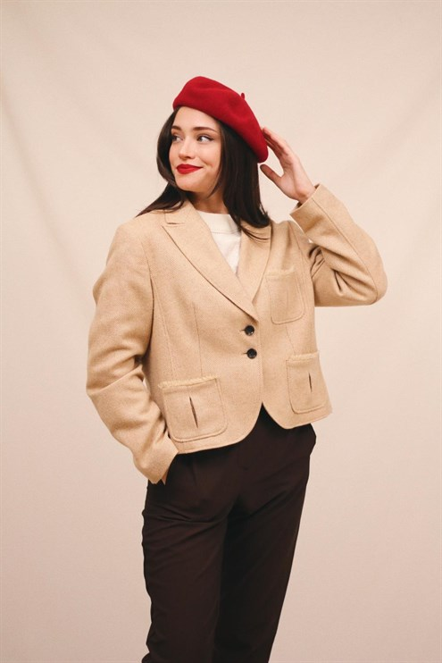 Cream Woolen Jacket