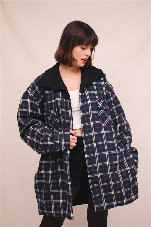 Oversize Flannel Jacket