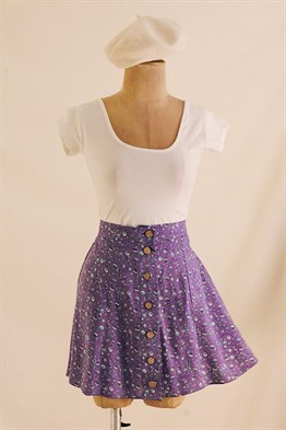Purple Monroe Mini Skirt